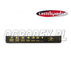 Naklejka załączania noży Castel Garden TC102 / TC122