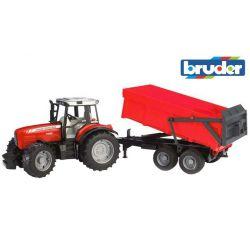 Zabawka Traktor - Massey Ferguson 7480 z przyczepą