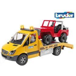 Zabawka Ciężarówka Mercedes pomoc drogowa z Jeepem