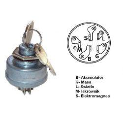 Włącznik zapłonu stacyjka do traktorków Villa 11 nr. 725-0267, 1134-1814-01.