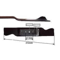 Nóż do traktorka 41cm MTD B10, B100, B115, 11/81, 12/81 nr. 742-0487A