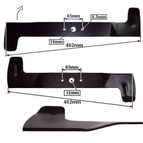 Noże Viking MT540, MT545, MT580, MT585 nr. 61257020105, 61257020100