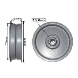 Rolka napinacza MTD płaska śr. 82,5mm