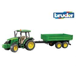 Zabawka Bruder 02108 Traktor - John Deere 5115M z przyczepą