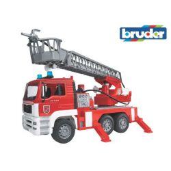 Zabawka Wóz strażacki MAN z drabiną i sygnałem