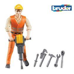 Zabawka Figurka robotnika z akcesoriami
