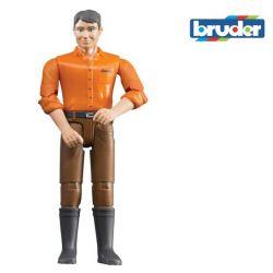 Zabawka Figurka mężczyzna w brązowych spodniach