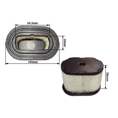 Filtr powietrza Briggs&Stratton Intek 5.5-6.5HP, nr. 498596, 360610