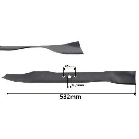 Nóż mulczer 53cm Husqvarna LC153V, LC153S McCulloch 5553SD, PM5553 nr. 5321658-33, 5324067-12
