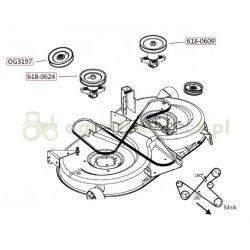 Pasek napędu noży MTD JN150H, JN200AT, RH150/105 nr. 754-04069, MXV5-1050