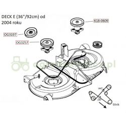 Pasek klinowy B2415La noży MTD RH150/92B