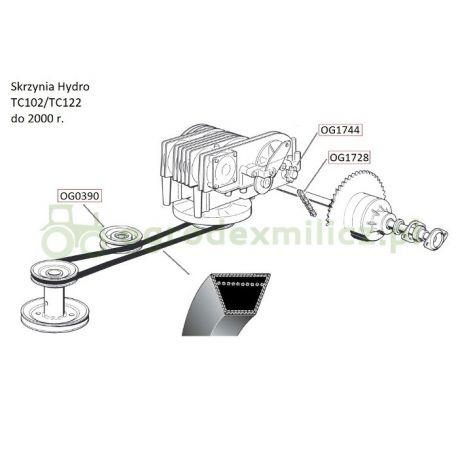 Pasek klinowy A54 jazdy hydro CastelGarden TC102, TC122 nr. 35061426/0