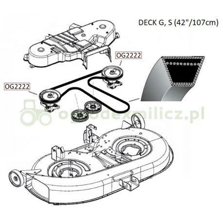 Pasek klinowy napędu noży MTD Optima LG155, P155HF, Smart RG175 nr. 754-04060B