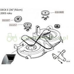 Pasek klinowy B2388La noży MTD SE135A, SE150H