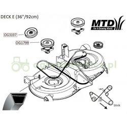 Pasek B2472La napędu noży MTD LTEX 92A