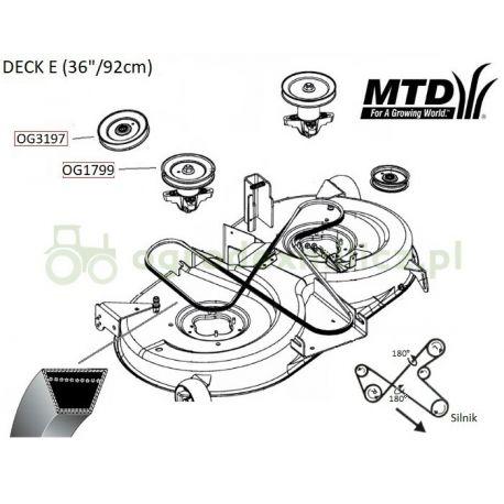 Pasek klinowy napędu noży MTD 16-92H Swiss Platinum, Junior 125, LTEX 92A nr. 754-0479