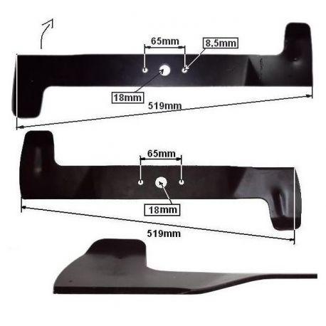 Komplet listw tnących, noży do tratkorka Honda HF2213, HF2216, HF2417 nr. 80515-VK1-003, 80516-VK1-003