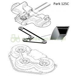 Pasek klinowy napędu noży traktorka Stiga Park Pro, Titan 125 Combi nr 9585-0142-01, 1134-9087-01
