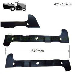 Komplet noży, listw tnących traktorka 540mm Husqvarna CTH194, TC142, TC242 nr 5815180-01