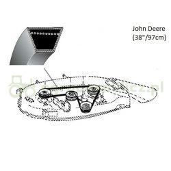 Pasek klinowy A1676La noży John Deere LX172