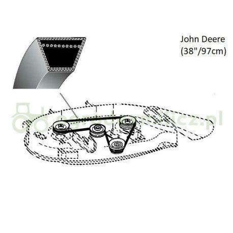 Pasek klinowy noży traktorka John Deere LX172, LX176, LX178 nr M82460, M82462