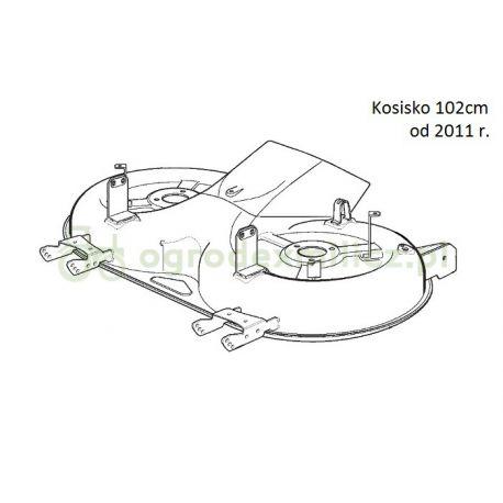 Kosisko (blacha) Castel Garden PTX160HD, XT170HD, XT175HD, XT180HD nr 382564153/0
