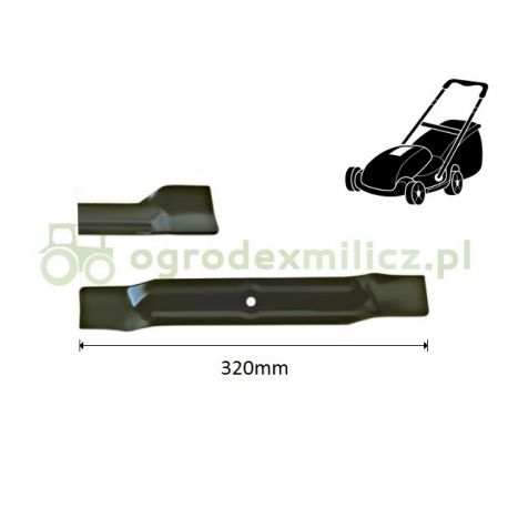 Nóż 320mm  kosiarki elektrycznej Wolf-Garten Ambition 32E, Select 3200E nr 092.48.854