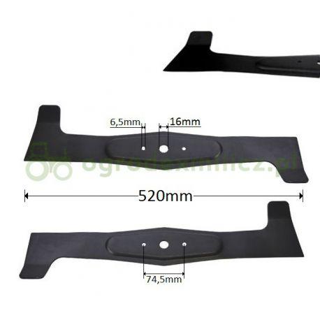 Noże, prawa i lewa listwa tnąca traktorka ogrodniczego 520mm AGS AJ102 nr 532050422533, 532050422543