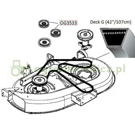 Pasek klinowy napędu noży MTD SG155A, SG175H nr 754-0634