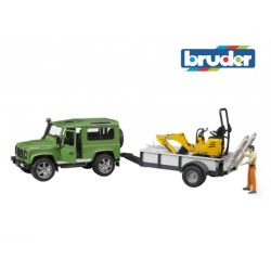 Zabawka Bruder - Land Rover, JCB 8010 CTS