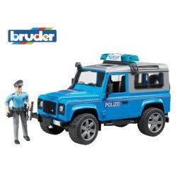 Zabawka Bruder - Policja Land Rover Defender
