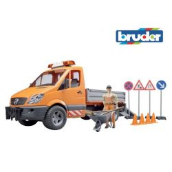 Zabawka Bruder - Mercedes, roboty drogowe