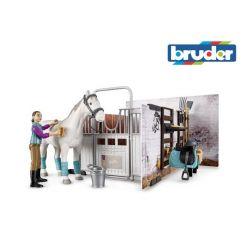 Zabawka Bruder - Mini stajnia, koń + jeździec