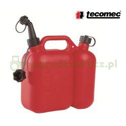 Kanister 5l+2,5l dwukomorowy na paliwo i olej - Tecomec