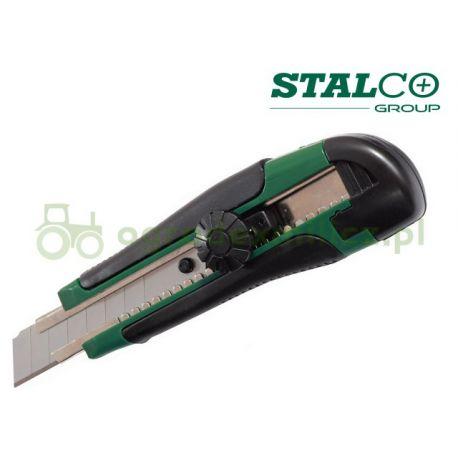 Nóż wysuwany gumowany 18mm - STALCO S-17430