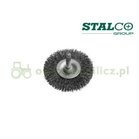 Szczotka tarczowa z trzpieniem 75mm - Stalco S-34432