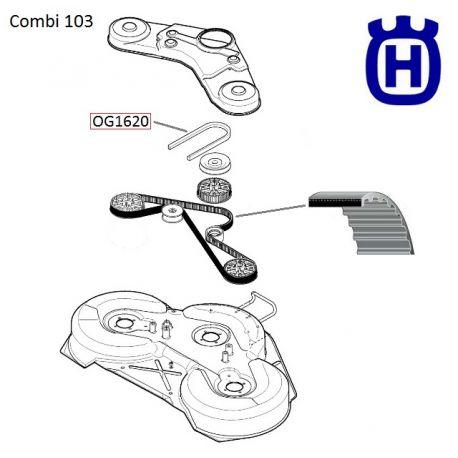 Pasek zębaty Husqvarna Rider 15-V2, Rider 155 nr 5354113-01, 5895337-01