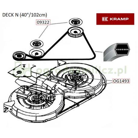 Pasek napędu noży AA88 MTD 754-0443, 954-0443