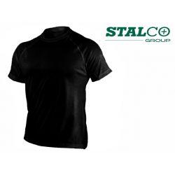 Koszulka czarna XXL - Stalco S-44641