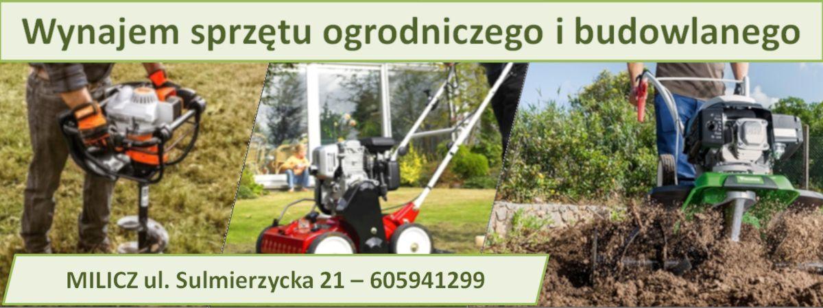 Sprzęt ogrodniczy, wertkulator, glebogryzarka, nożyce do wynajęcia - Milicz
